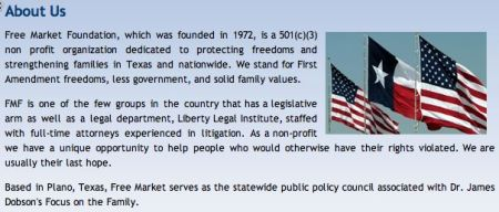 "Free Market Foundation - ""About Us"" page, 2008"